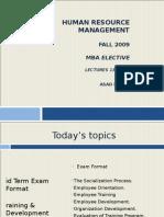Human Resource Management Fall2009 16-17-18