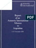 Report of an Amnesty International Mission to Argentina - November 6~15 1976