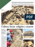Cultura Sicán religión y muerte
