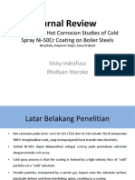Hot Corrosion Studies of Cold Spray Ni-50Cr Coating on Boiler Steels