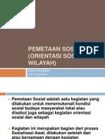 Pemetaan Sosial Orientasi Sosial Dan Wilayah