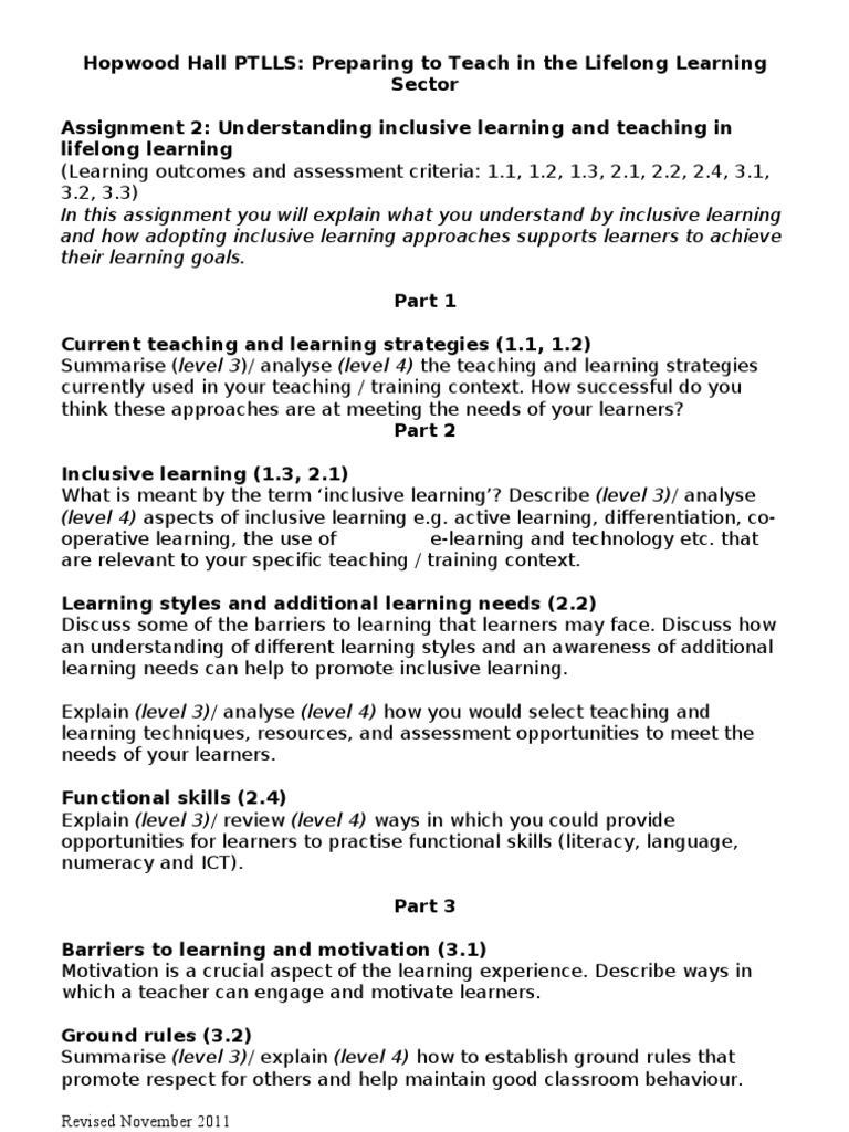 ptlls assignment 2
