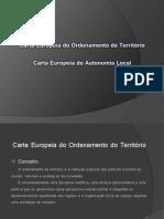 Carta Europeia do ordenamento do território  Carta europeia da autonomia local