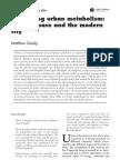 Rethinking Urban Metabolism - Water, Space and the Modern City Matthew Gandy