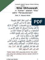 Ukhuwwah Nilai Ajaran Pokok Akhlaq Islami