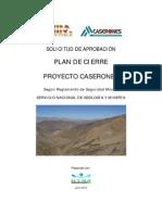 Plan de Cierre Proyecto Caserones - Sernageomin