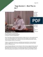 Babaji Kriya Yoga Secrets 1 – Best Way to Dissolve Karma