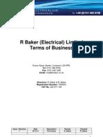R Baker - Standard Terms of Business
