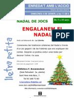 Cartell Taller de Descoberta Engalanem El Nadal. Gener 2012