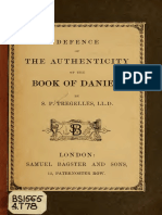 Tregelles. Defence of the authenticity of the book of Daniel. 1852.