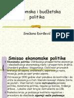 Ekonomska i budzetska politika