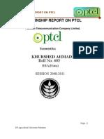 403 Final Internship Report on Ptcl