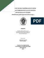 Kualitas SPI (Koperasi Purworejo
