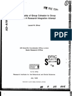 The Relationship of Group Cohesion to Group Performance - A Research Integration Attempt - Laurel W Oliver - July 1988