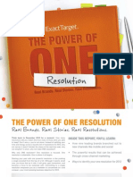 The Power of One Resolution Web
