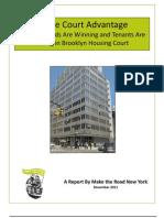 Home Court Advantage Housing Court Report