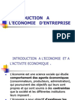 INTRODUCTION   A  L'ECONOMIE   D'ENTREPRISE bis