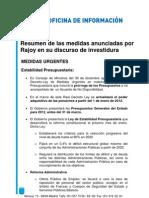 Rajoy Medidas Discurso Investidura 19.12.11