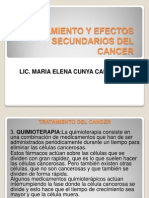 Tratamiento y Efectos Secundarios Del Cancer