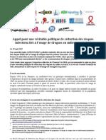 2011-05-30 CP Appel Pour Une Politique de RDR en Prison