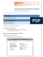 Wireless Configuration-Windows 7