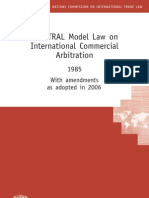 UNCITRAL Model Law on Itr. Commercial Arbitration