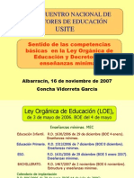 Competencias en el Curriculum escolar