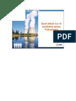 Quel débat sur le nucléaire après Fukushima?