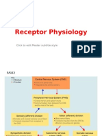 physiology ....final material .... CNS .... Receptor Physiology