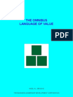 The Omnibus Language Of Value