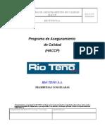 HACCP  Frambuesa