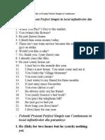 Exercitii Cu Present Perfect Simple Si Continuous