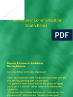 Intercultural Communication -South Korea