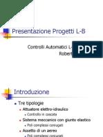 Presentazione Progetti L-B Versione Ridotta