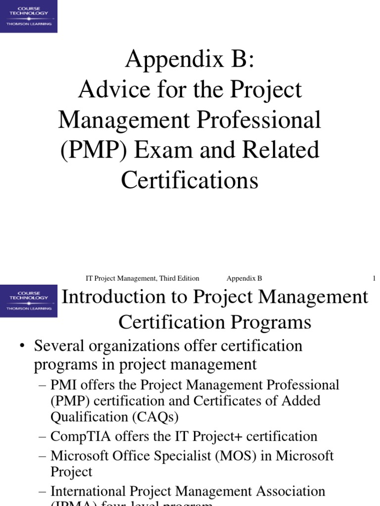 Appendixb project management professional professional appendixb project management professional professional certification 1betcityfo Choice Image