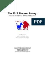 Simpson Survey Report 2012