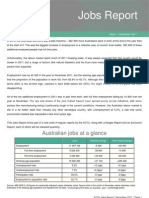 ACTU Jobs Report December 2011
