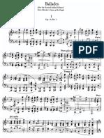 Brahms - Ballades Op. 10