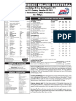 UNH @ Providence College Game Notes