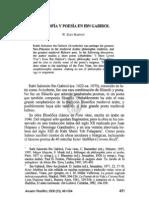 6. FILOSOFÍA Y POESÍA EN IBN GABIROL, W. ZEEV HARVEY