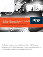 SapientNitro & GfK Roper Survey - Holiday Shoppers Turn to Digital Devices to Stretch Their Dollars