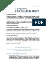Cuestiones que plantea la ley penal en el tiempo (derecho penal español)