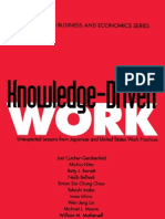 AAA Knowledge-Driven Work Unexpected Lessons From Japanese and United States Work Practices