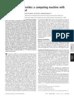 Yaakov Benenson, Rivka Adar, Tamar Paz-Elizur, Zvi Livneh and Ehud Shapiro- DNA molecule provides a computing machine with both data and fuel
