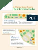 Culinary Herbs Garden Bed Designs
