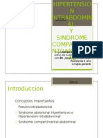 sesion Hipertension intrabdominal