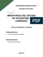 IMPORTANCIA DEL ESTUDIO DE AUTOESTIMA Y LIDERAZGO EN ESTUDIANTES DE PSICOLOGÍA