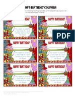 Primary 2012 - Birthday Coupons