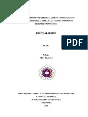 Contoh Sampul Skripsi Teknik Informatika Pejuang Skripsi