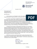DHS Letter to Kyl